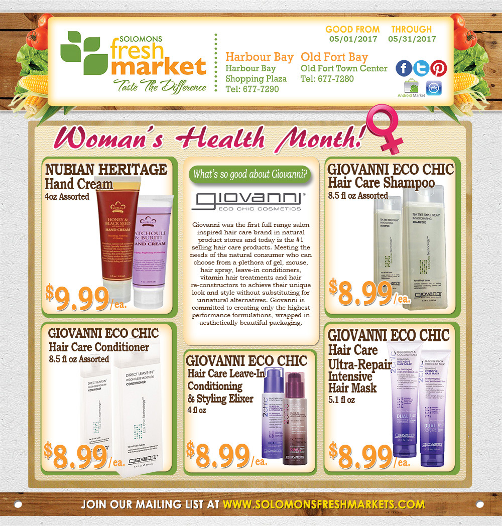 Solomon's Fresh Market Women's Health Month