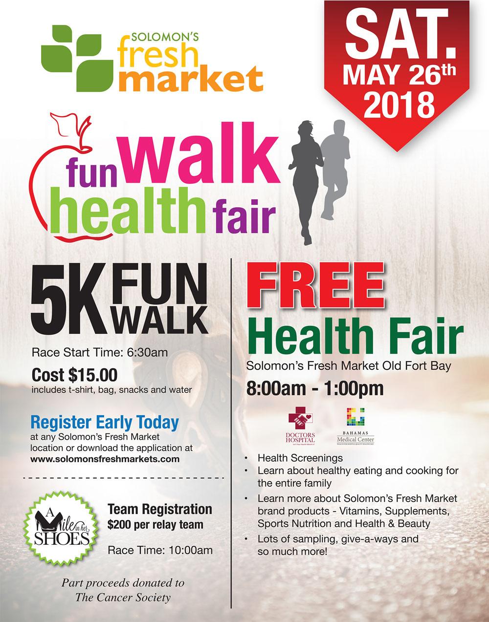 Fun Walk Health Fair With Solomon's Fresh Market