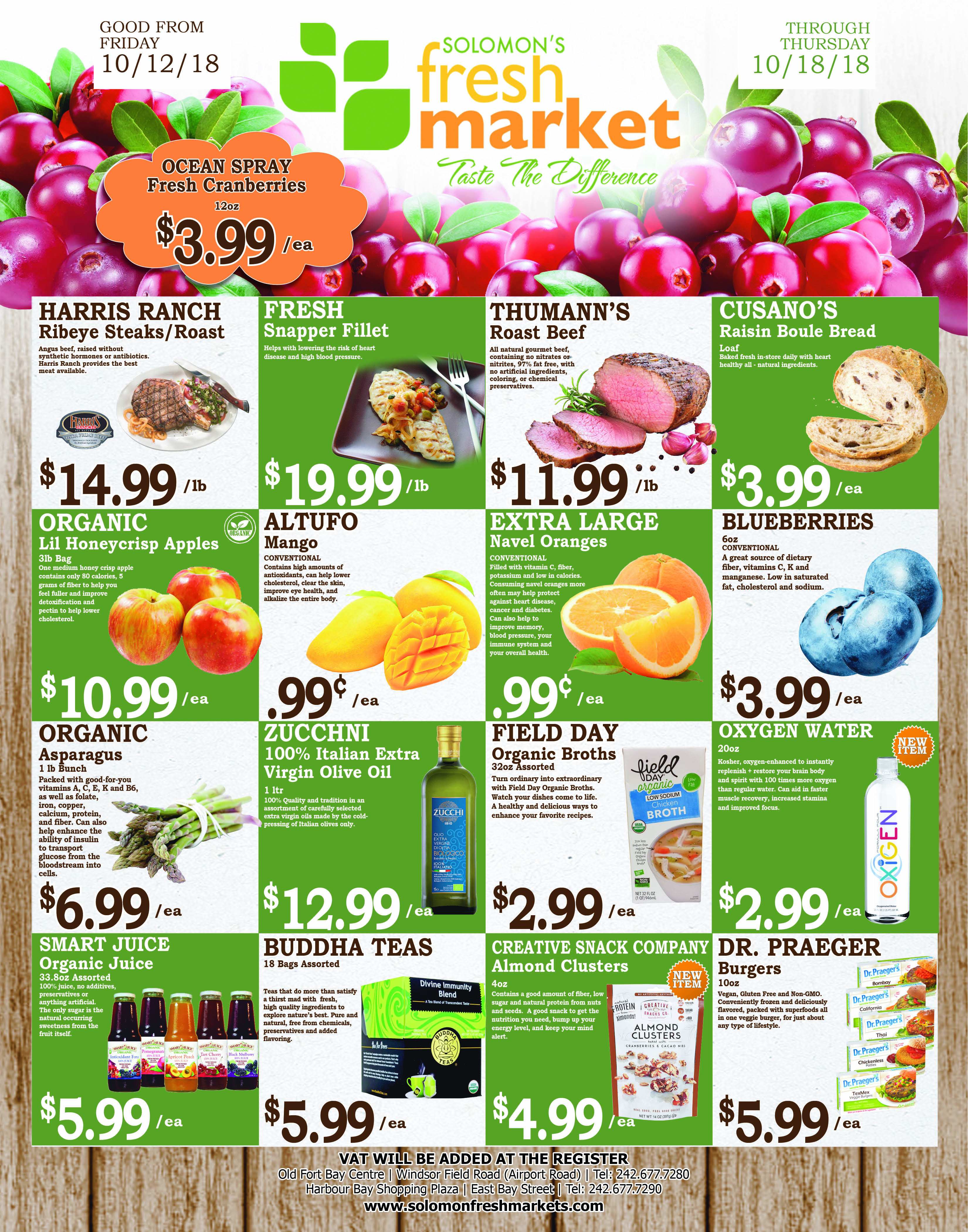 Solomons Fresh Market. Weekly Savings!