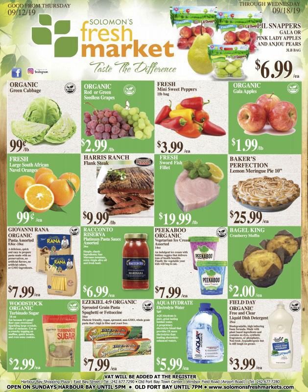 Solomon's Fresh Market - Nassau - Nassau / Paradise Island ...