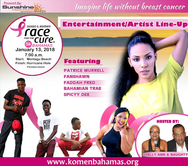 8th Annual Komen Bahamas Race for the Cure | Artist Line-Up