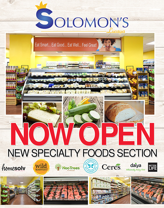 NOW OPEN New Specialty Food Section at Solomons Lucayan