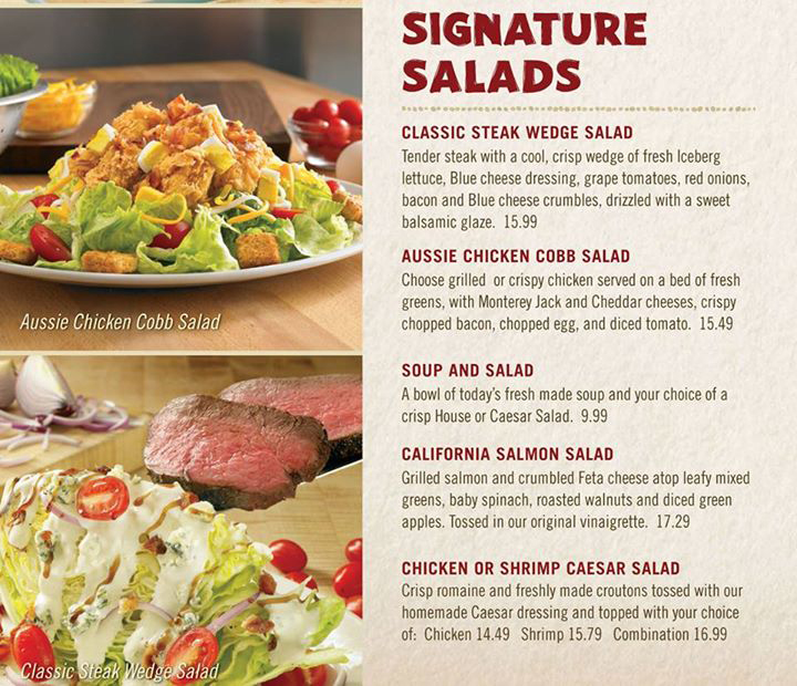 Which one of these is your favorite salad at Outback Steakhouse