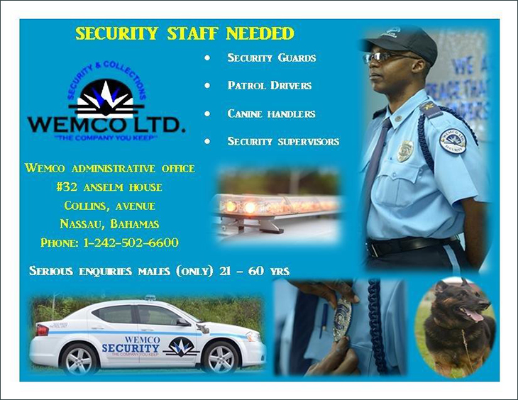 Wemco Security & Credit Collections Ltd Security Staff Needed