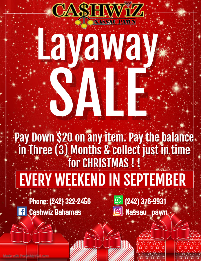 Cashwiz - Nassau Pawn | Layaway Sale Every Weekend In September
