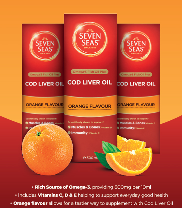 Seven Seas Cob Liver Oil Orange Flavour
