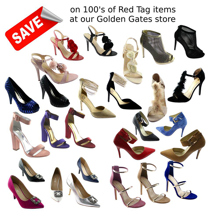 100s of new red tag markdowns at our Golden Gates store. Check out the styles styles and savings at Shoe Depot