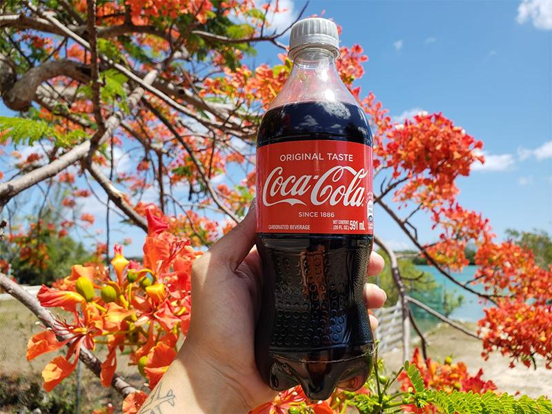 Coca-Cola Bahamas Silver Capped Bottles