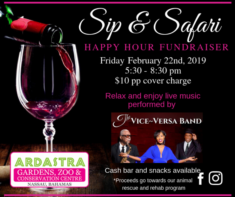 Sip and Safari Happy Hour Fundraiser At Ardastra Gardens