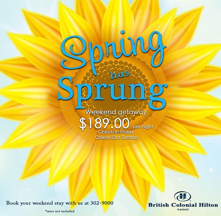 British Colonial Hilton | Spring Weekend Getaway 189.00 per night