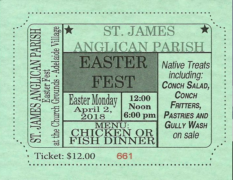 St. James Anglican Church Annual Easter Monday Fest