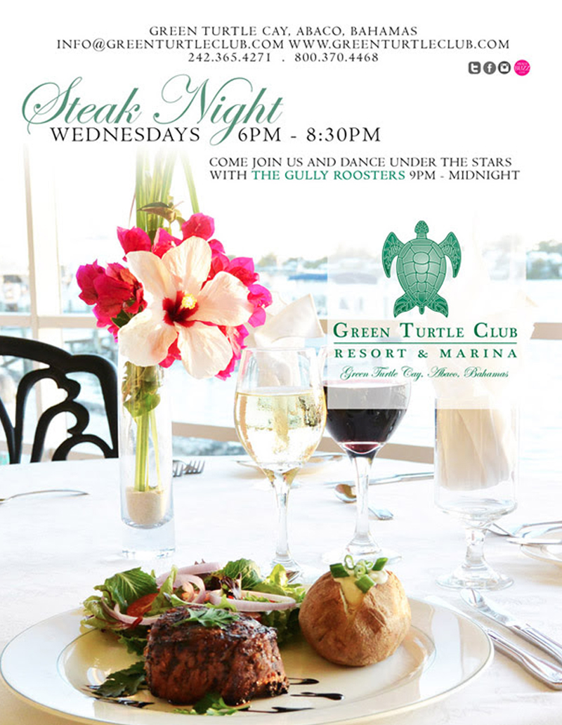 Steak Night At Green Turtle Cay Club
