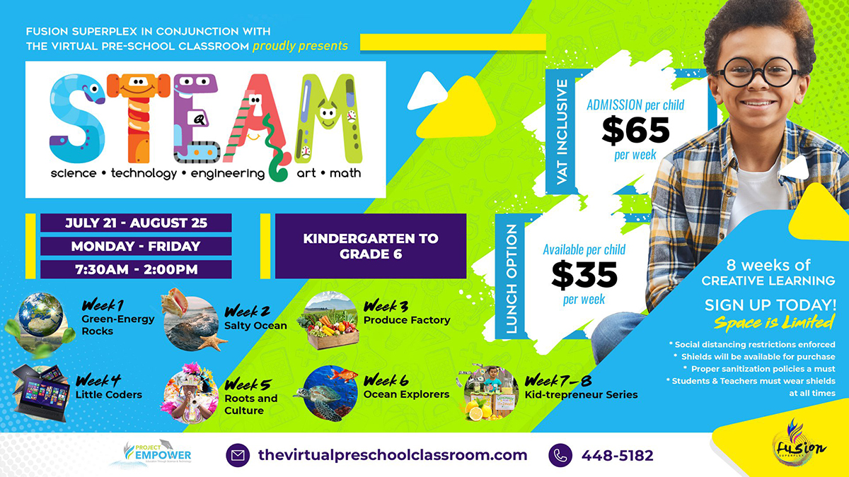 Calling all Preschoolers - 6th Graders! Fusion Superplex in conjunction with Virtual Preschool Classroom presents STEAM!