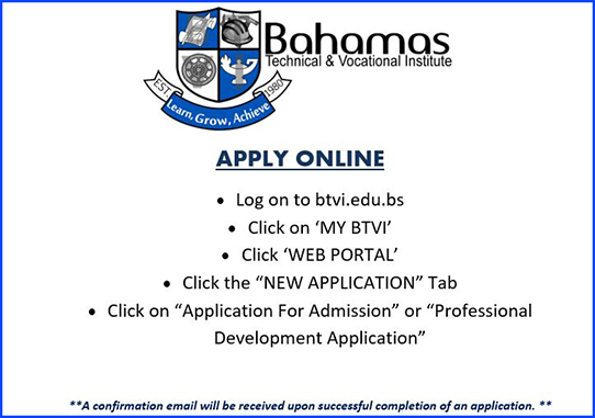 Bahamas Technical & Vocational Institute (BTVI) Steps To Apply Online