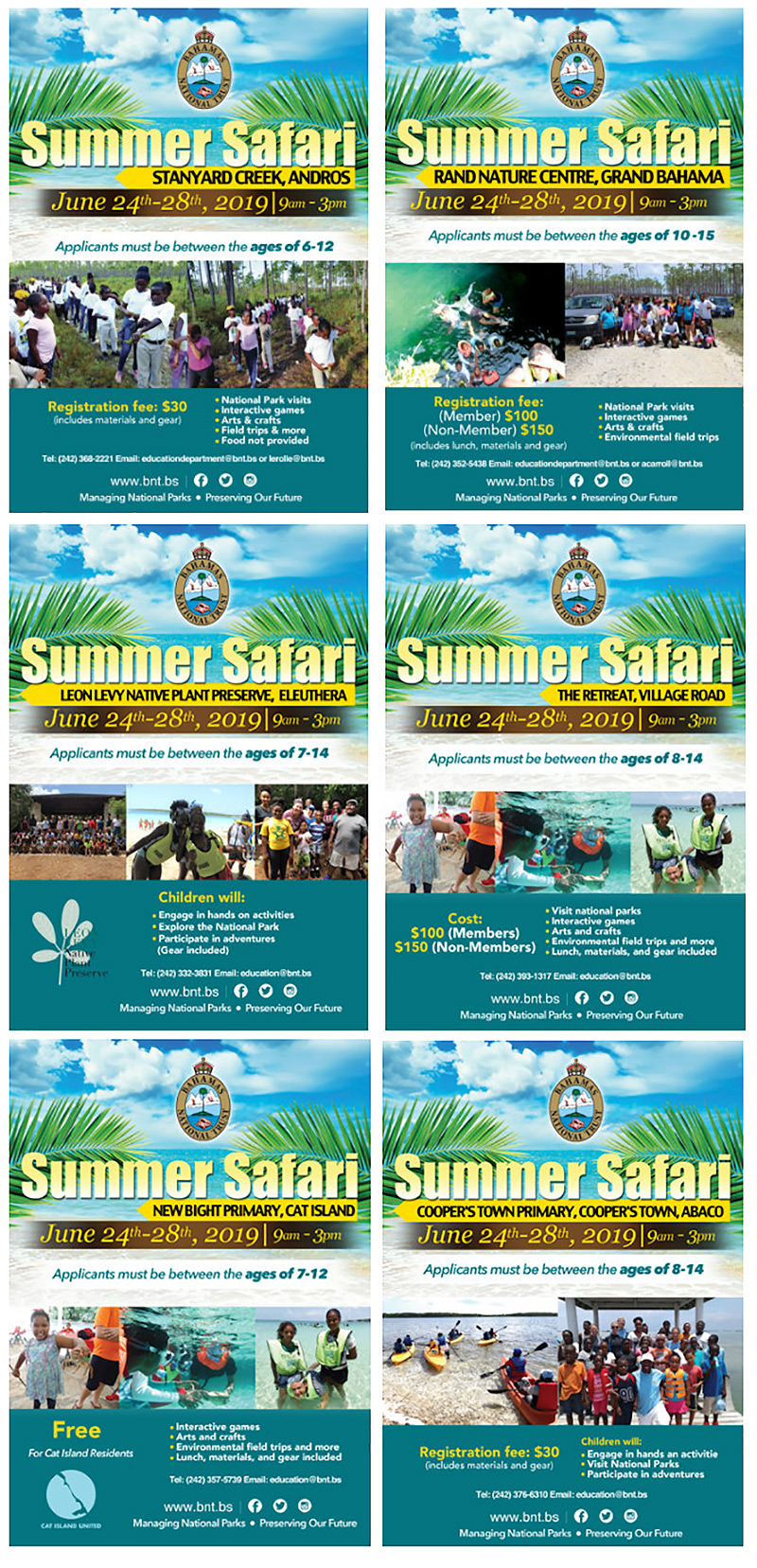 Bahamas National Trust Summer Safari Camp