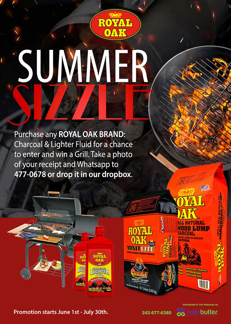 Purchase any Royal Oak Brand Charcoal and Lighter Fluid for a chance to win a brand new grill.