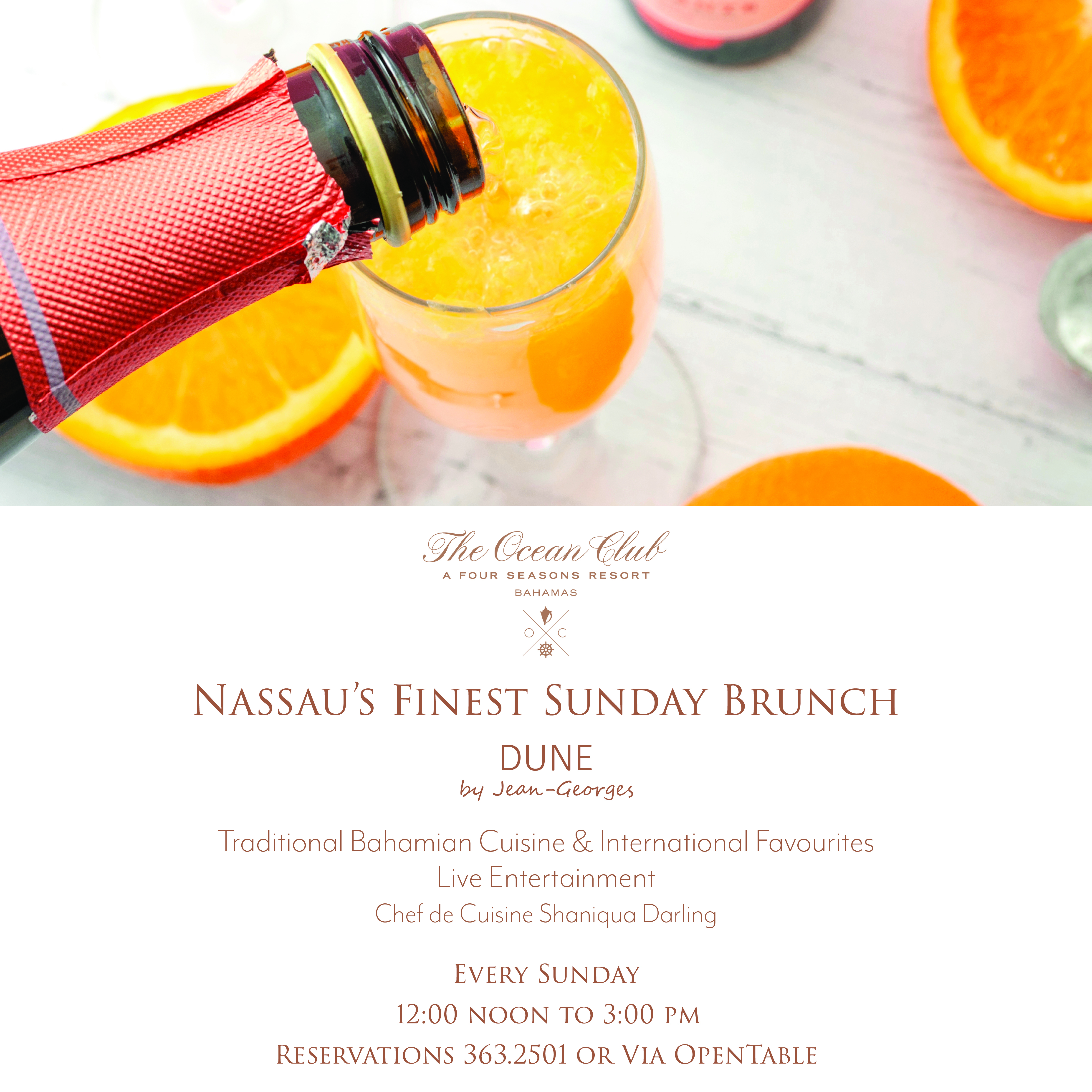 Bahamian Sunday Brunch at The Ocean Club