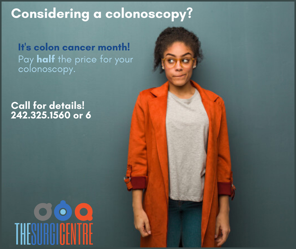 The Surgi Centre | Now through the end of April the price of our colonoscopy's sliced in 1/2