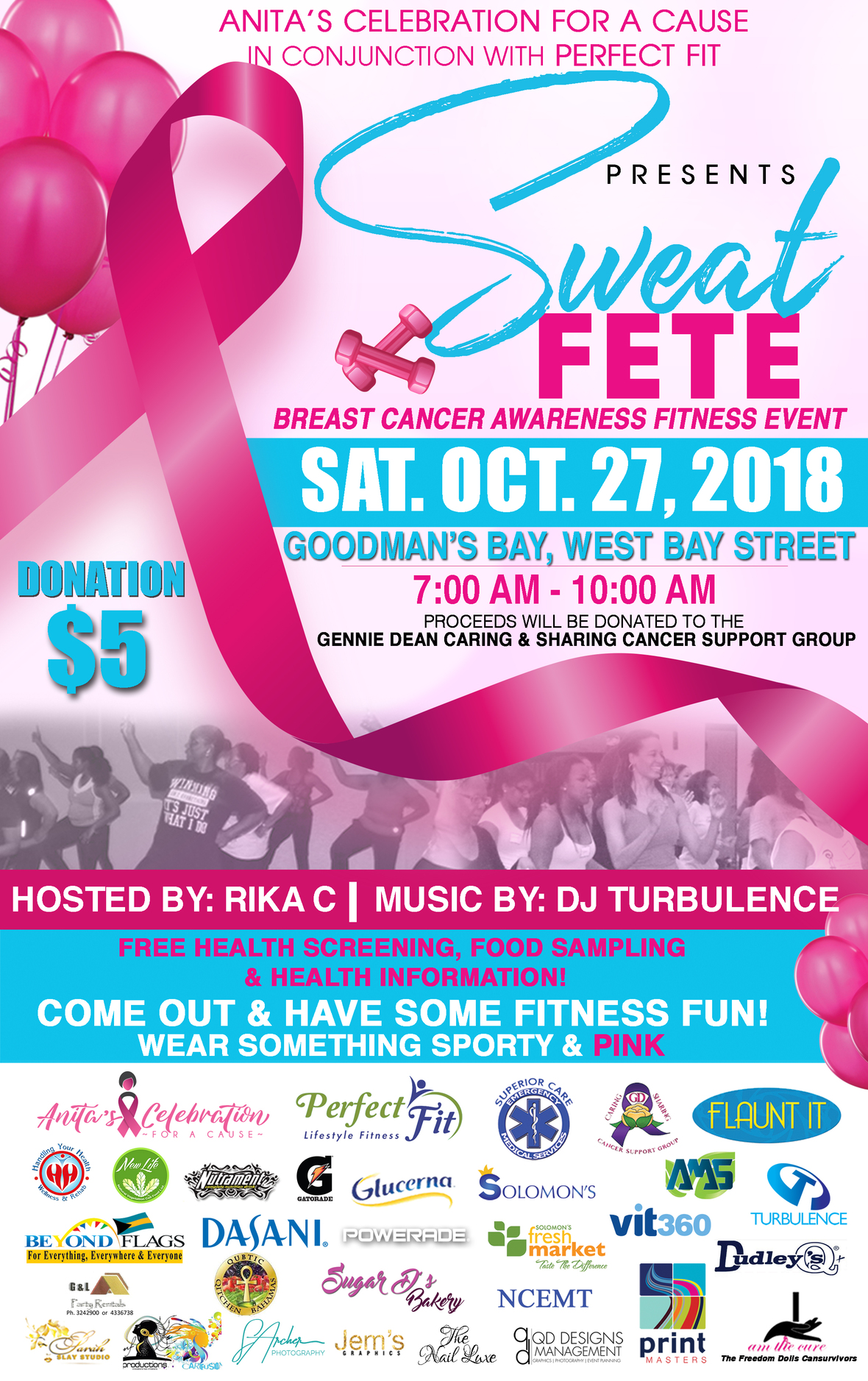 Sweat Fete   Breast Cancer Awareness Fitness Event