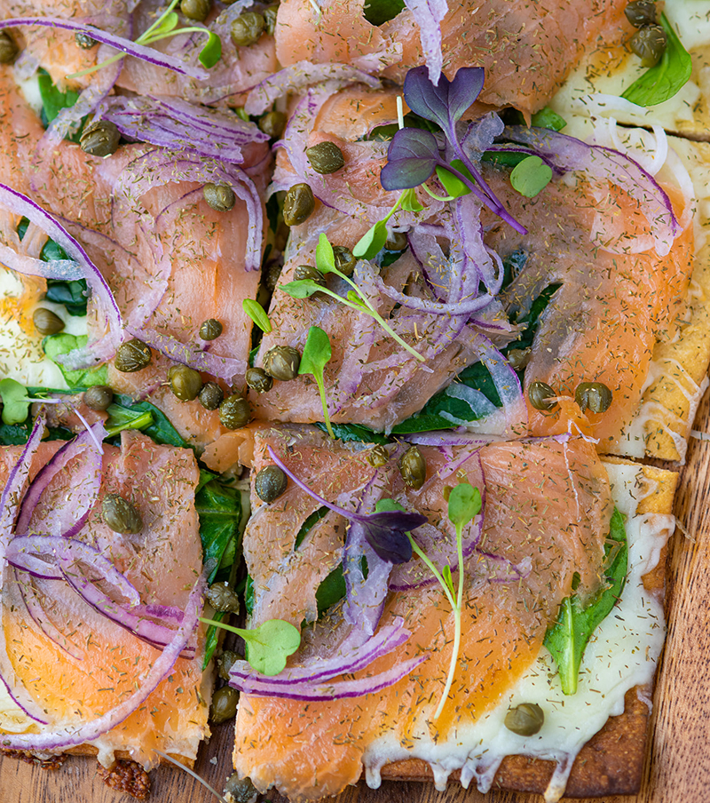 The Perfect Monday Meal - Smoked Salmon Flatbread!