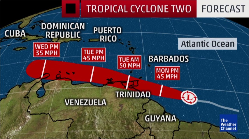 Tropical Cyclone 2 Forecast
