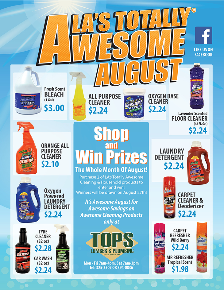 AWESOME AUGUST At TOPS Lumber