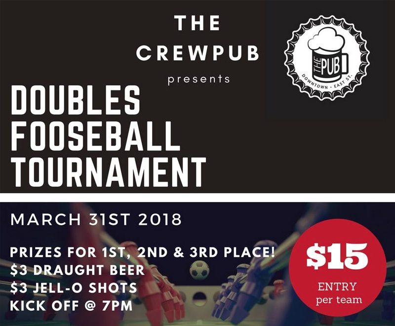 The Pub Double Foos Tournament Hosted by The Crew Pub