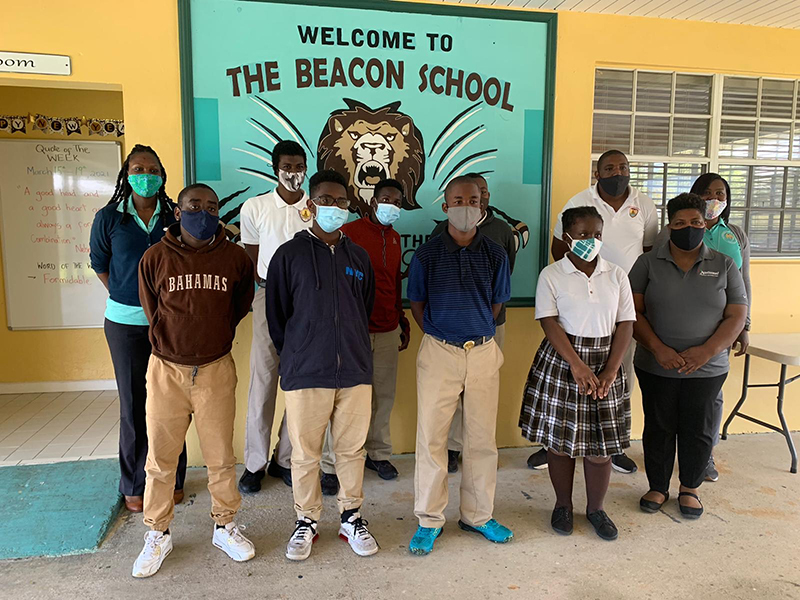 A hiking trip in June marked only the second time in the history of the Governor General's Youth Award that special needs participants successfully completed an adventurous journey and qualified for Bronze from the internationally affiliated programme. Students from The Beacon School in Grand Bahama are pictured here with their unit leaders and GGYA's national director, Jacquetta Lightbourne-Maycock.
