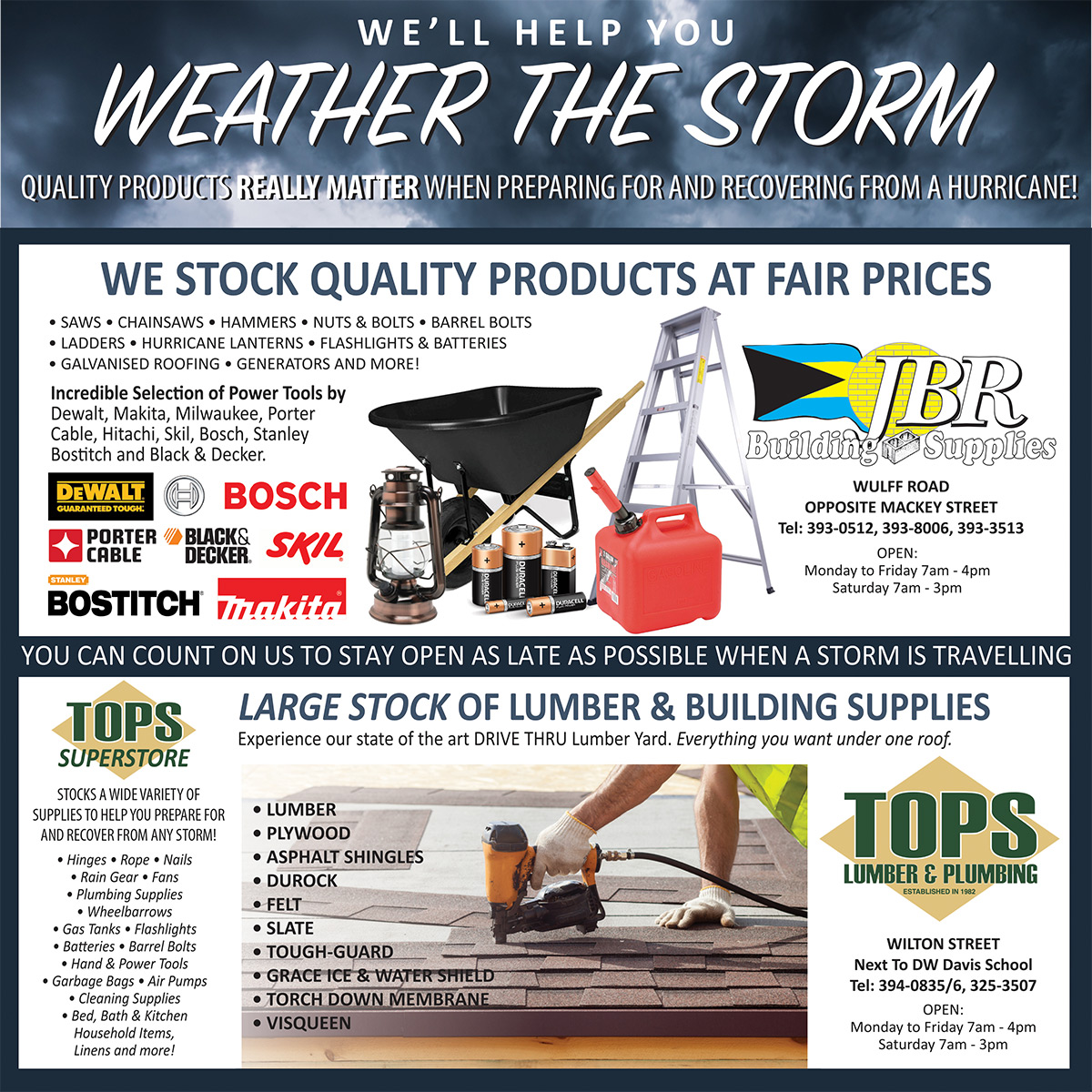 Let JBR Help You Weather The Storm