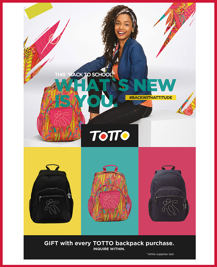 Totto Back To School Backpack at Brass & Leather