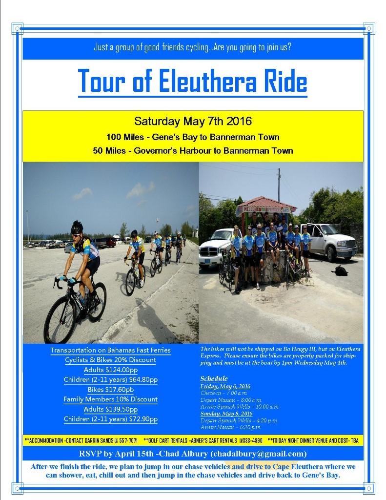Tour of Eleuthera Ride