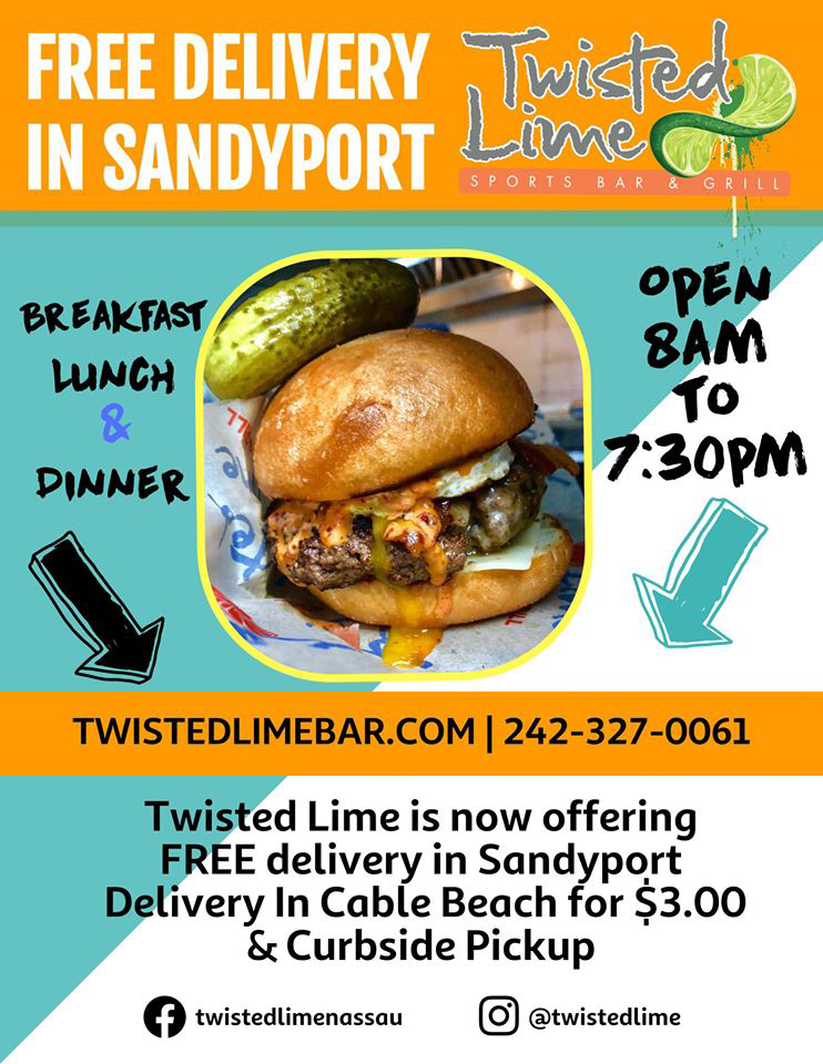 Twisted Lime. Serving all your favorites. Takeout or Delivery