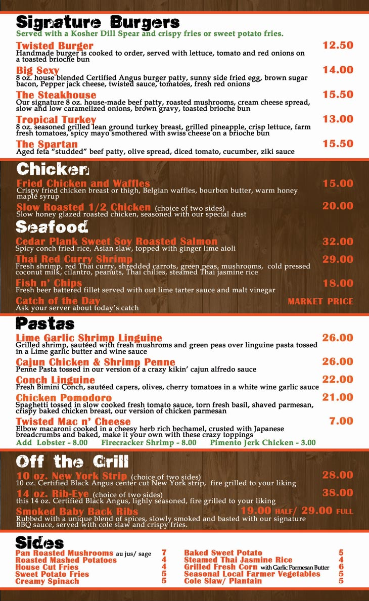 Bahamas menu related keywords bahamas menu long tail for Senor fish menu