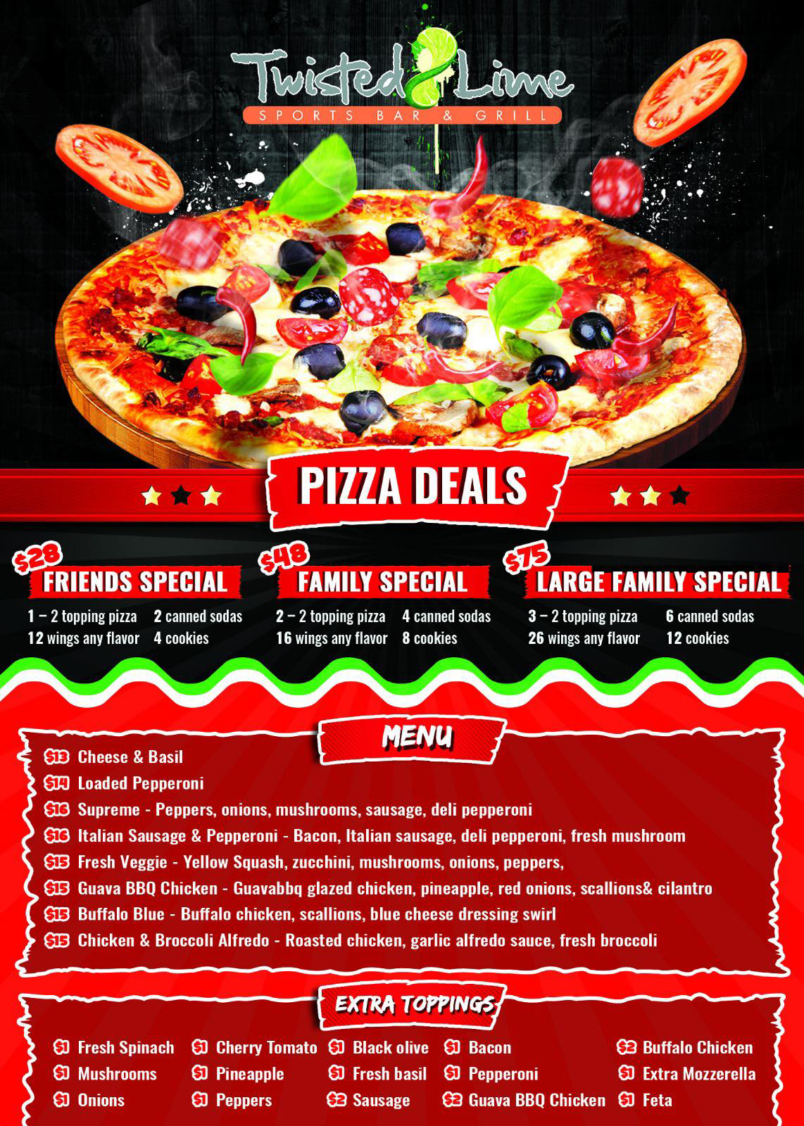 Twisted Lime Pizza Deals