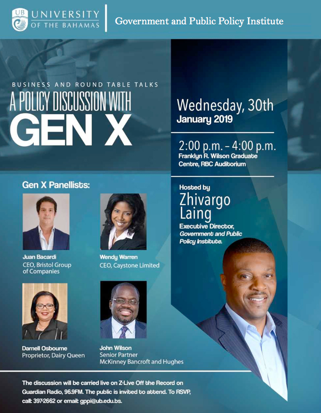 University of The Bahamas A Policy Discussion With GEN X