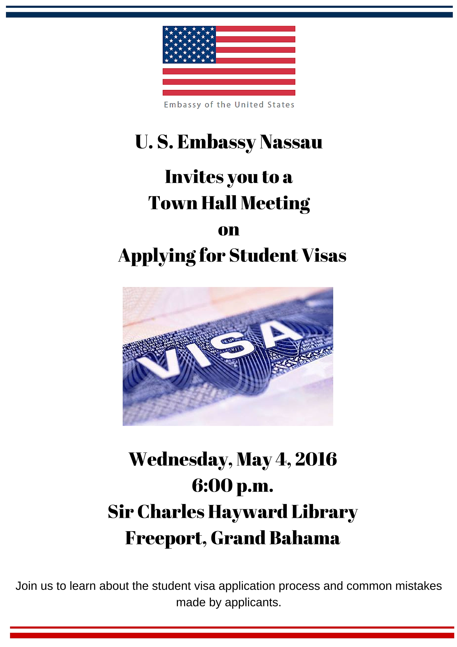 US Embassy Town Hall Meeting