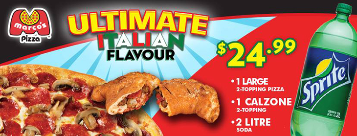 Ultimate Italian Flavour at Marco's Pizza!