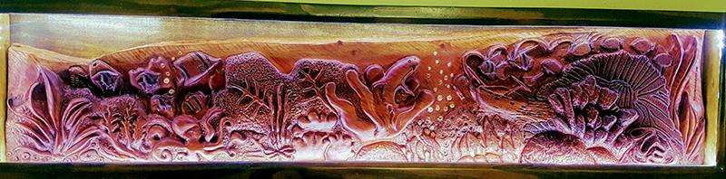 'Under the Sea' wooden sculpture by Kim Deveaux