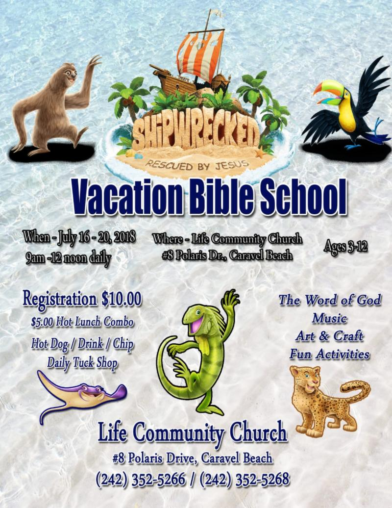 Vacation Bible School Shipwreck