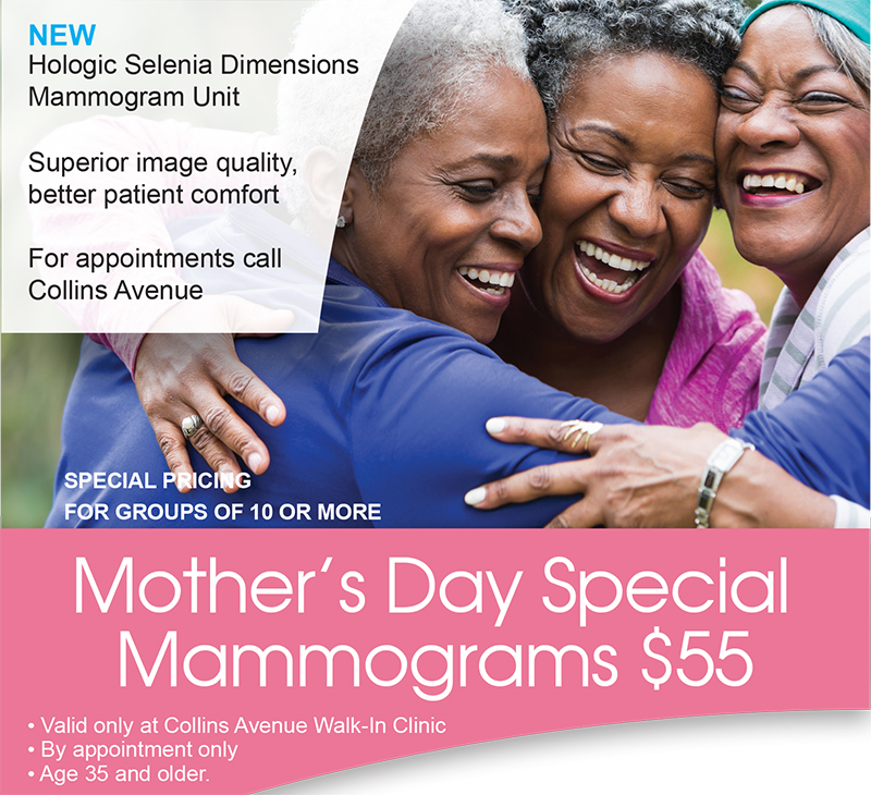 Mothers Day Special Mammogram Walk-In Clinic