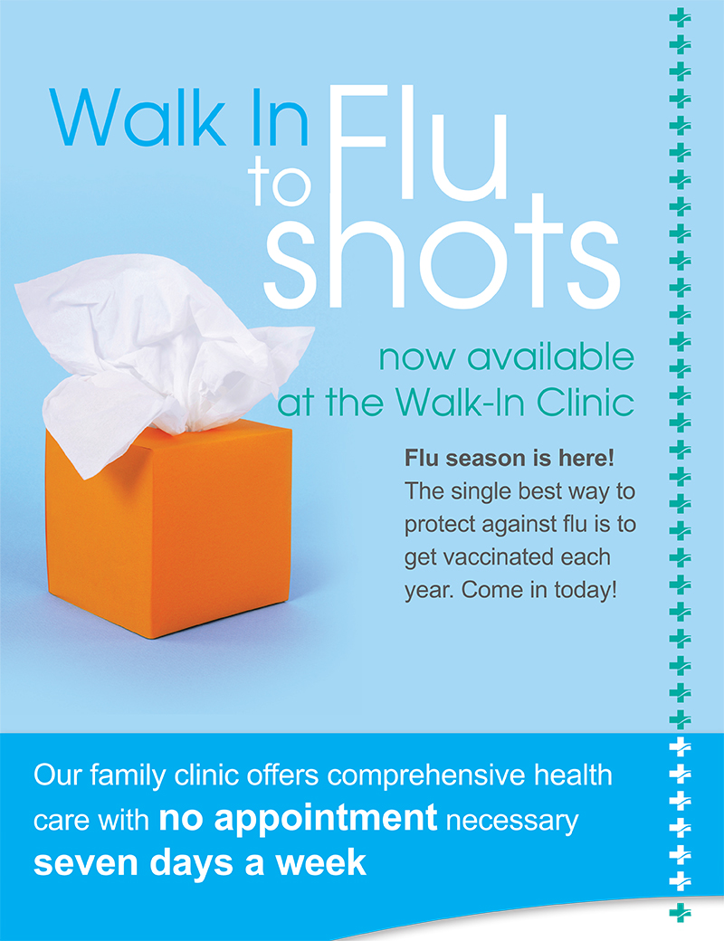 Walk In Flu Shots Now Available