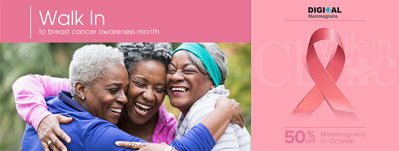 Walk-In Medical Clinic October 2019 - Breast Cancer Awareness Month