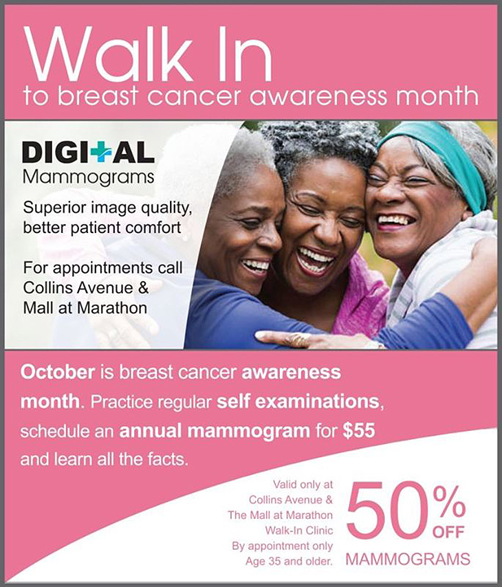 Walk-In Medical Clinic - Early detection saves lives. This is why Walk-In Clinic is having 50% off mammograms this month