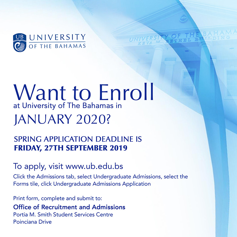 Want To Enroll At University Of The Bahamas In January 2020?