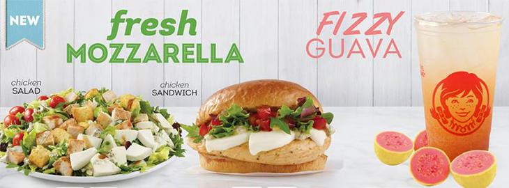 NEW Fresh Mozzarella Chicken Sandwich and Salad at Wendys!