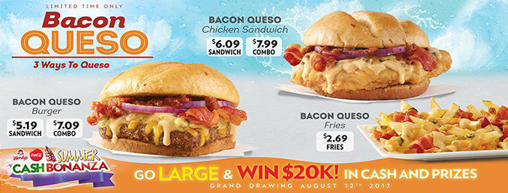 NEW Bacon Queso Fest at Wendys!
