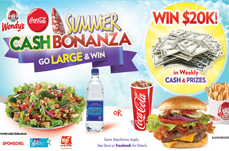 My Wendys Summer Cash Bonanza