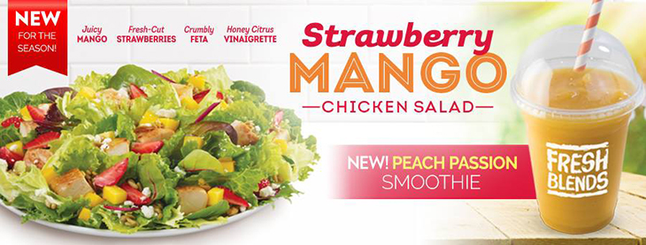 NEW Strawberry Mango Chicken Salad at Wendys!