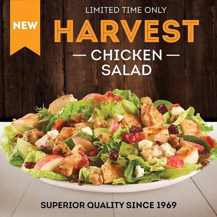 BRAND NEW Harvest Chicken Salad at Wendys