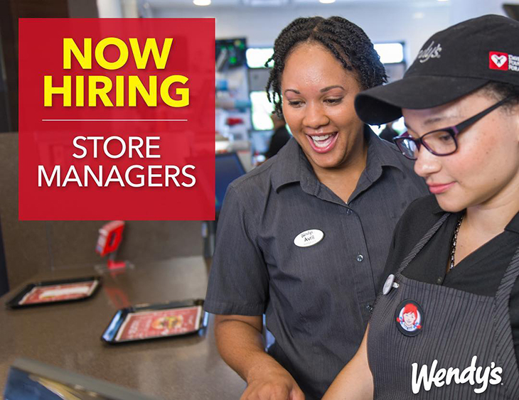Wendy's Now Hiring Store Managers
